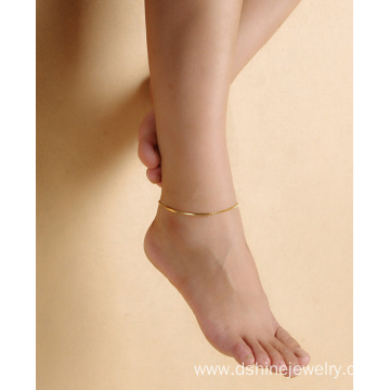 Fashion Beach Anklet Polished Metal Elbow Simple Anklet Bracelet